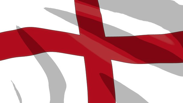 Flag, England, Cartoon, Flag Of England