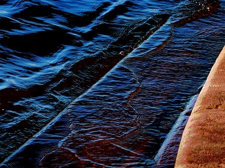 River, Water, Bank, Waves, Coast, Nature, Closeup