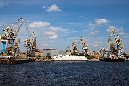 Port, Ship, Cranes, Cargo, Sea, Dock, Harbor, Industry