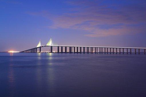 Tampa, Sunshine, Skyway Bridge, Florida