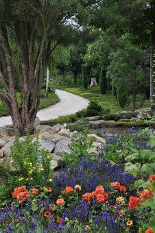 Flowers, Garden, Park, Public Park, Path, Walkway