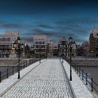 Historic Center, Bridge, Fachwerkhaus, Cityscape
