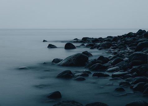 Sea, Rocks, Fog, Stones, Coast, Coastline, Water, Ocean