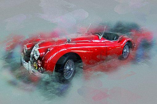Traffic, Auto, Vehicle, Automotive, Old Car, Jaguar