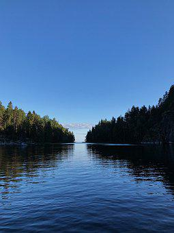 Russia, Karelia, Lake, Trees, Water, Nature, Landscape