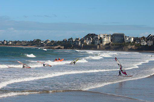 Windsurfing, Sea, Beach, Windsurfers, Water Sports