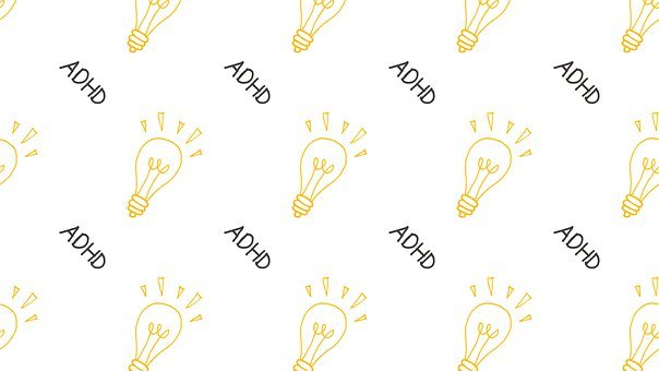 Light Bulb, Adhd, Background, Pattern, Seamless