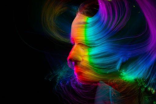 Woman, Beauty, Light Painting, Face, Girl, Portrait