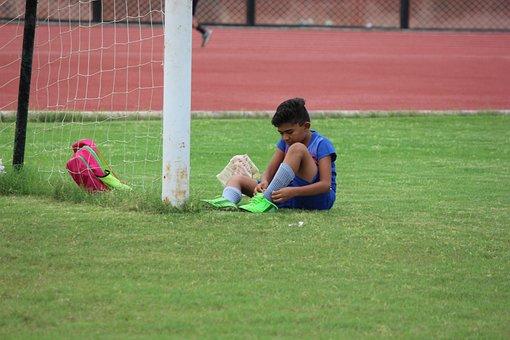 Children, Uniform, Sports, Exercise, Stretch, Player
