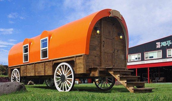 Wagon, Cart, Wheels, Western, Farm, Grass, 마차