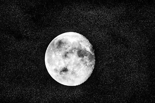 Moon, Stars, Galaxy, Moonlight, Starry, Space, Universe