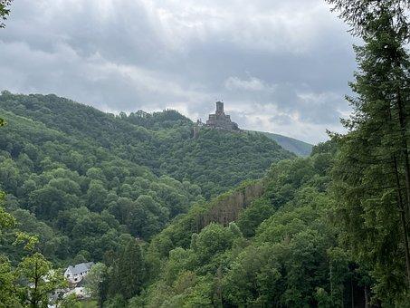 Castle, Ehrenburg, Keep, Brodenbach, Mosel, Ruin