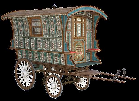 Wagon, Coach, Trailer, Gypsy, Old, Vintage