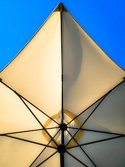 Umbrella, Cover, Vacation, Geometric, Picnic, Sky