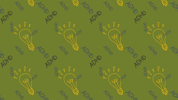 Light Bulb, Adhd, Background, Pattern, Seamless, Doodle