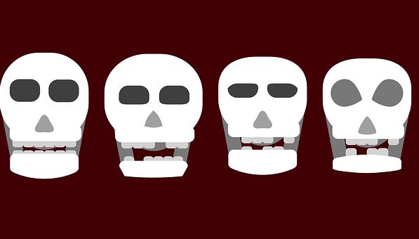 Skull, Skeleton, Bones, Cranium, Death, Halloween, Dead