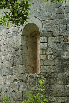 Stone Wall, Window, Tower, Chapel, Architecture