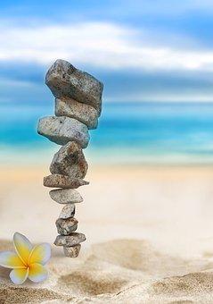 Stones, Rocks, Balance, Flower, Balanced Rocks