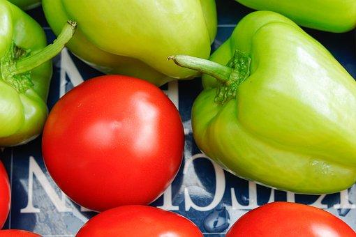 Tomato, Bell Pepper, Vegetables, Produce