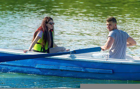 Boat, Rowing, Couple, Lake, Boating, Relaxation