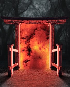 Portal, Fire, Flames, Burn, Burning, Flaming, Vortex