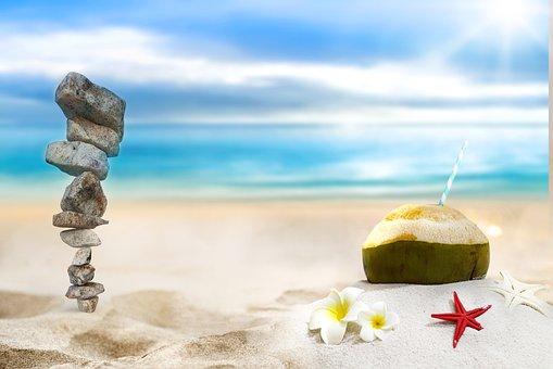 Stones, Rocks, Balance, Coconut, Balanced Rocks