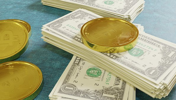 Bitcoin, Dollars, Cryptocurrency, Cash, Wealth, Crypto