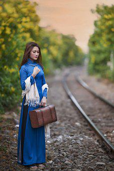 Woman, Model, Asian, Fashion, Style, Dress, Hand Bag