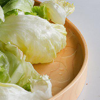 Iceberg Lettuce, Lettuce, Vegetable, Leaves, Food