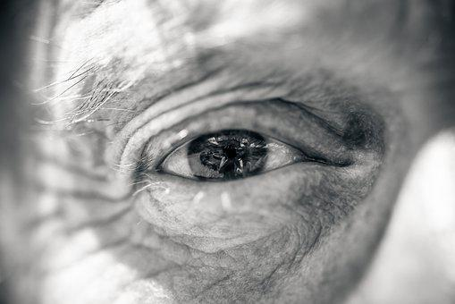 Eye, Man, Black And White, Old, Elderly, Elderly Man