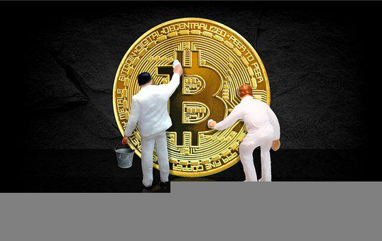 Bitcoin, Money, Currency, Coins, Miniatures, Figures