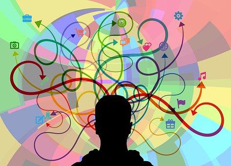 Head, Silhouette, Multitasking, Think, Tasks, Coping