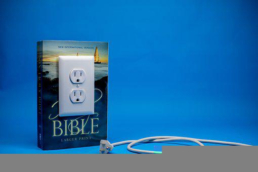 Bible, Plug, Unplugged, Disconnected, Disconnection