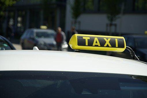 Taxi, Sign, Cab, Transport, Transportation, Taxi Sign