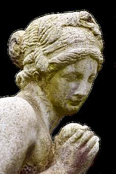 Statue, Woman, Sculpture, Figure, Stone, Old, Face