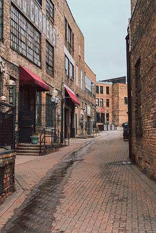 Old Town, Alley, Minnesota, Town, Old Buildings