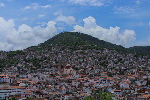 Taxco, City, Mountains, Buildings, Houses, Town, Urban