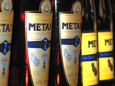 Metaxa, Spirits, Bottle, Alcohol, Glass Bottles