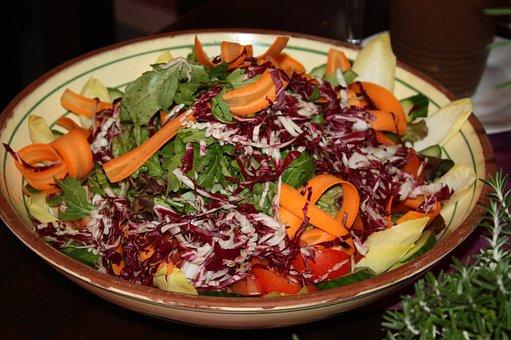 Salad Bowl, Salad, Appetizing, Tasty, Feed, Vegetarian
