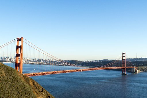 Golden Gate Bridge, Sunset, Evening, Dusk, Bridge