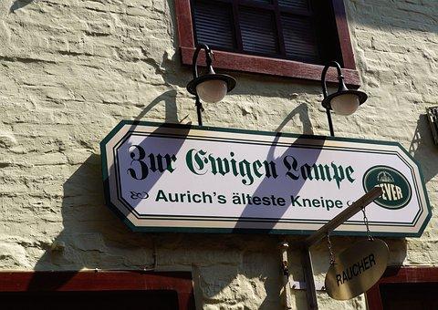Building, Historically, Restaurant, Oldest In Aurich