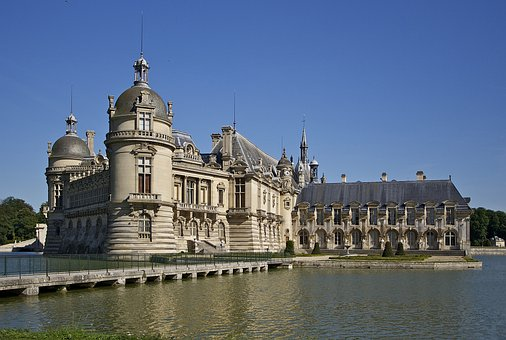 Chateau Chantilly, Castle, Chantilly, Moat, 19 Century