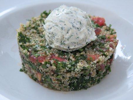Quinoa, Cream Cheese, Salad, Food, Cream, Cheese, Lunch