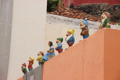 Snow White, Seven Dwarfs, Cheesy, Figures, Fairy Tales