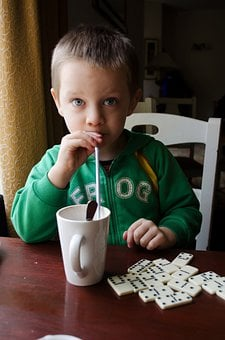 Child, Cocoa, Hot, Drink, Chocolate, Straw, Sweet