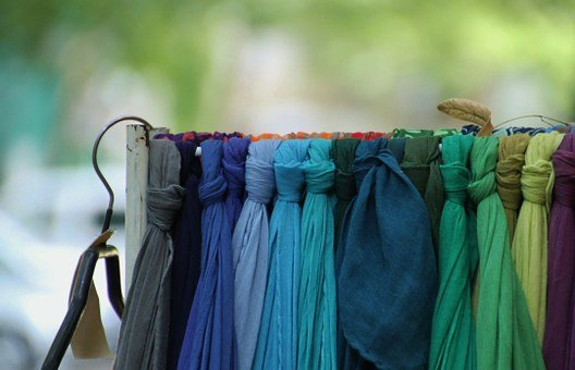 Scarf, Close, Market, Colorful, Color, Substances