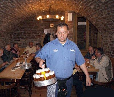 Beer, Kölsch, Köbes, Waiter, Cologne, Lommerzheim
