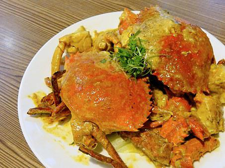 Crab, 奶油咸蛋螃蟹, Seafood, Salted Egg, Restaurant, Cooking