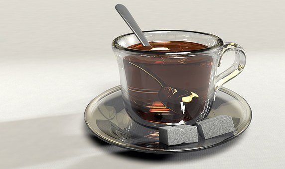 Cup, Tee, Teacup, Glass Cup, Spoon, Sugar, Sugar Lumps