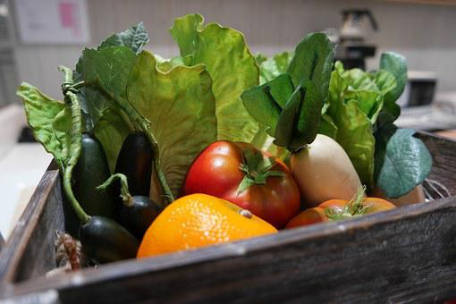 Plastic, Decoration, Vegetables, Design, Box, Green